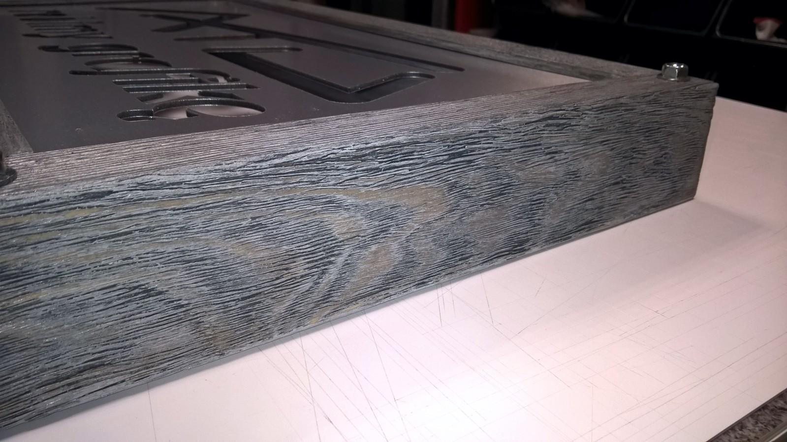 Stylizowane wykończenie drewna z bliska