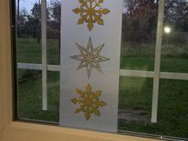 Elementy ozdobne z motywem świątecznym do drewnianych lampionów z podświetleniem