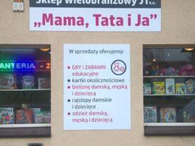 Plansze dla sklepu wielobranżowego